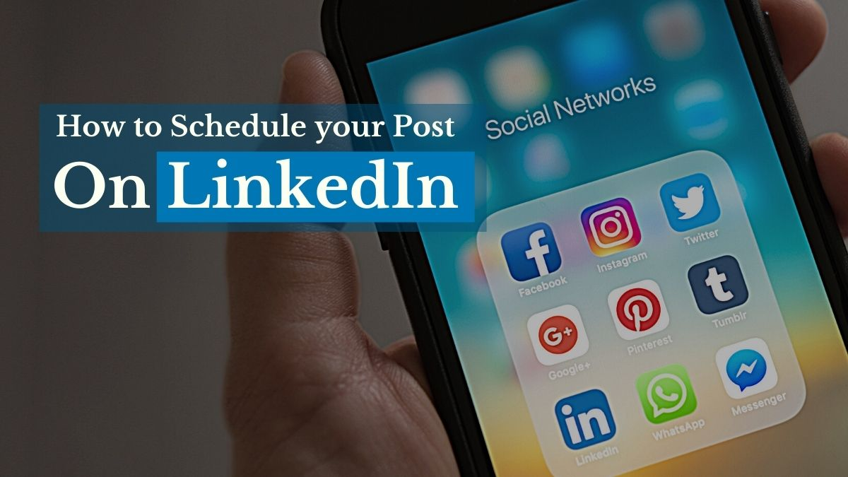 How to Schedule your Post on LinkedIn